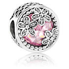 NEW Authentic Pandora Silver Clear CZ Pink Dazzling Daisy Meadow Bead 792055PCZ