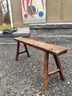 Antique Connecticut BARN FIND Childrens Bench MORTISE TENON JOINTS late18th PINE