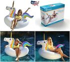 Inflatable Raft Tube GoFloats Unicorn Party Pool River Floating Water Swim New