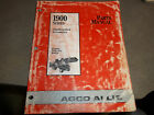 AGCO ALLIS 1900 series RIDING MOWER ATTACHMENTS & ACCESSORIES PARTS MANUAL