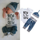 Newborn Kid Baby Boy Girl Clothes Jumpsuit Romper Bodysuit Long Pants Outfit Set