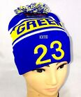 Green #23 basketball Player Knit Pom Beanie