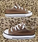 CONVERSE CHUCK TAYLOR ALL STAR BABY TODDLER SHOES SIZE 7C BROWN CANVAS SNEAKERS