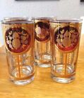Estate New Old Stock ~ 'Cera' ~ (4) Deep Purple, W/ 22kt. Gold High Ball Glasses