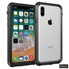 iPhone X Case Clear Back Waterproof Shockproof Cover with Screen Protector i 10