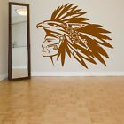 Wall Vinyl Sticker Tribal Native American Tribe Warrior War Paint Head ZX167