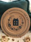 Becca Barton Hearthside Collection Autographed Painted Wood Plate #31555
