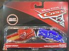 DISNEY PIXAR CARS 3 HEYDAY SMOKEY DIRT TRACK FABULOUS HUDSON 2 PACK 2017 SAVE 5