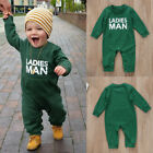 Newborn Baby Kid Boy Girl Blouse Romper Jumpsuit Bodysuit Top Clothes Outfit USA