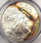 2008 Toned American Silver Eagle Dollar 1 ASE PCGS MS68 Rainbow Toning Coin