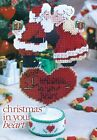 CHRISTMAS IN YOUR HEART SANTA  MRS CLAUS PLASTIC CANVAS PATTERN INSTRUCTIONS