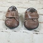 Pediped 6 12 month Toddler Boys Brown Leather Soft Sole Shoes