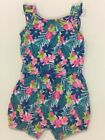 New Carters Baby Girl size 9 Month One Piece Romper Floral Hawaiian Romper NWT