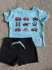 JOY Carters Baby Boy 2 Piece Outfit Lot Size 3 6 Months EUC Construction Trucks