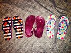 The Childrens Place Youth Girls Size 10 11 Sandals Flip Flops Lot