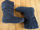 Girls Frenchy Tall Zip Up Suede Like Slouch Boots Black Size Child Size 10