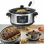 6 Quart Programmable Slow Cooker With Temperature Probe Small Kitchen Appliance