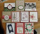 10 Handmade CHRISTMAS WINTER HOLIDAY greeting cards Star Ornament Stampin Up