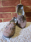 WOMENS CLARKS PRIVO LIGHT BROWN Suede Slip on loafer Shoes SZ 65M 1174