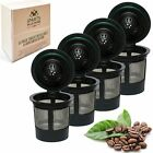 4 Reusable Single K Cup Solo Filter Pod Coffee Stainless Mesh For Keurig New