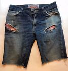 Vintage Fashion Levis Cut Off Ripped 510 Super Skinny 32 x 32 Jeans