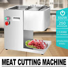 250Kg/Hour Stainless Steel Meat Cutting Machine Commercial 550W Electirc Slicer