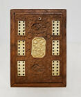 Antique Vintage Chinese Carved Softwood Export Card Case Box