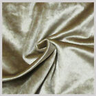 5 yards Velvet Fabric 58 inches wide sold bty for upholstery  drapery Champagne