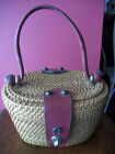 Etienne Aigner Vintage Purse Basket Weave and Leather