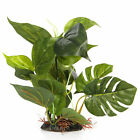 Aquarium Fish Tank Ornament Plastic Plants Green 10-inch Tall 1220