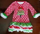 Girls Boutique Christmas Tree Tunic Top 4t 5t NWOT