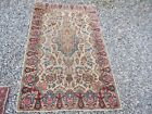 ANTIQUE IVORY KIRMAN TIGHT WEAVE HANDMADE ORIENTAL WOOL ESTATE RUG