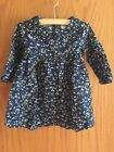 Old Navy Baby Girl Navy Floral Dress 100 Cotton Size 6 12 Months
