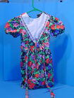 Kids  More Floral 6 Girls Dress 100 Cotton with Lace Short Sleeve Breast 22
