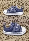 CONVERSE CHUCK TAYLOR ALL STAR BABY INFANT SHOES SIZE 3C BLUE CANVAS SNEAKERS