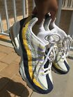 big kids nike air max 95 blue and yellow size 55 8 10 condition