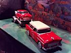 124 Scale Diecast 3 pcSet Red White55 Chevy Nomad55 Bel Air