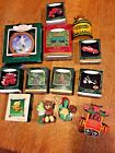 Set of 17 Hallmark Christmas Ornaments Train Tractor Car Tweety Harley Etc.