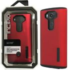 Incipio DualPro Protective Hard Hybrid Phone Cover Case for LG V10 Red Black