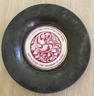 Antique 19th Century O'Hara Dial Co Hand Painted Enamel Coaster Plate Poet Moore