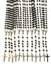 12 PCS black Glass prayer beads rosary  Rosary Crucifix Necklace Lot of 12