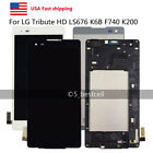 LG Tribute LS676 K6B F740 K200 LCD Display Touch Screen Digitizer Assembly Frame