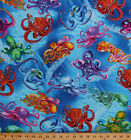 Octopus Octopuses Water Ocean Sea Animals Cotton Fabric Print by Yard D67856