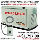 Generac Guardian™ 8kW Standby Generator System (50A 10-Circuit Automatic Switch)