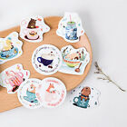 45x Cup Of Animals paper sticker decor DIY diary scrapbooking label sticker Pip