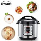 9 In 1 Electric Pressure Cooker 6 Quart Kitchen Slow Cooking Stainless Steel