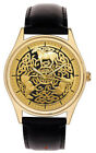 CELTIC HORSE CIRCLE MEDALLION EQUESTRIAN ART LARGE 40 mm SOLID BRASS WRIST WATCH