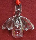 ORREFORS crystal 2000 ANGEL Christmas Ornament - Includes Box - 3