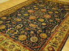 Handmade Tree of Life Persian Khoy Royal Turquoise Indigo Gold Tabriz Rug 9x12+