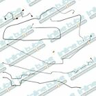 Fits 1987 1995 Jeep Wrangler YJ Power Disc Brake Line Kit Set No ABS Stainless